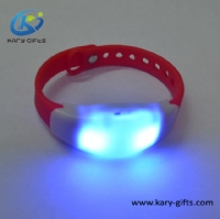 Timer Controlled Silicone Bracelet Flashing Time Management Led Wristbands