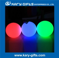 Plastic rechargeable LED illuminated multi color ball light