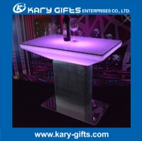 waterproof RGB color stainless steel led bar table KFT-8856